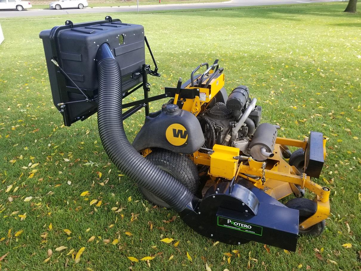 stand on lawn mower catchers custom built leaf vac. Black Bedroom Furniture Sets. Home Design Ideas